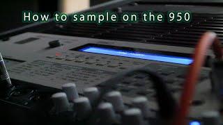 How to Sample on the 1988 AKAI S950 12-bit Sampler