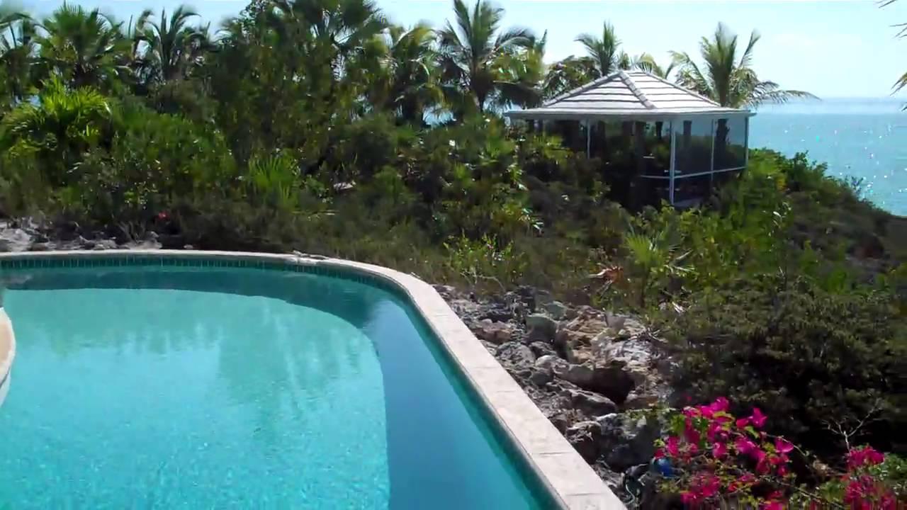 south seas villa turks and caicos part 7: wrap around pool & ocean