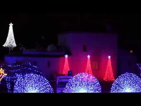 Maison illuminée Noel 2014 a la fare les oliviers Light-O-rama Wizzard