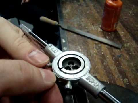 Cutting an External Thread using Die & Die Stock