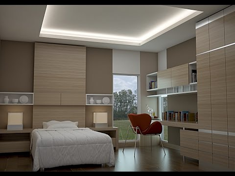 VRAY TUTORIAL ...SMALL BEDROOM DESIGN...model & rendering in 3DMAX...VRAY...SOLIDROCK