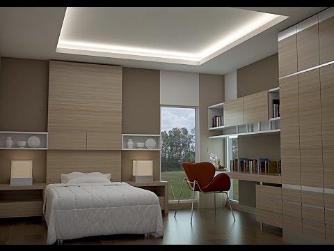 VRAY TUTORIAL ...SMALL BEDROOM DESIGN...model & Rendering In 3DMAX...VRAY...SOLIDROCK