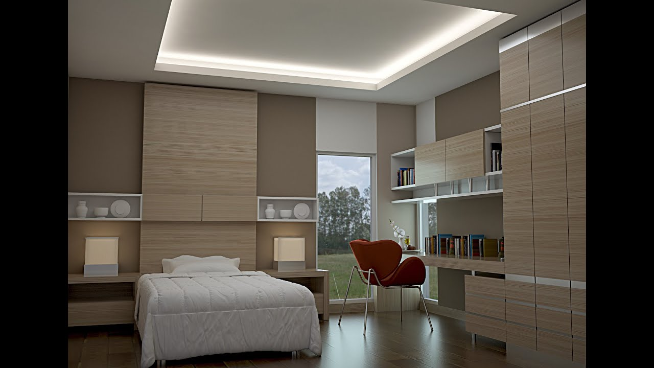 VRAY TUTORIAL ...SMALL BEDROOM DESIGN...model & rendering ... on Model Bedroom Ideas  id=30536