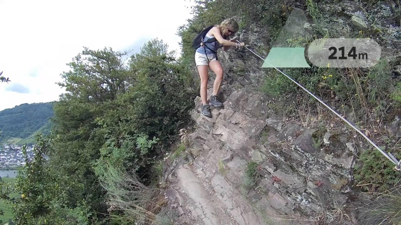 Klettersteig Calmont : Calmont klettersteig moesel youtube
