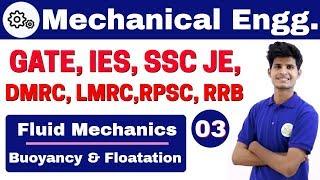 12:00 PM | Mechanical by Neeraj Sir | Day #03 | Fluid Mechanics | Buoyancy & Floatation | Part-I