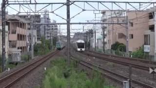 四季島試運転通過数分前に抑止~四季島通過まで 新松戸駅にて