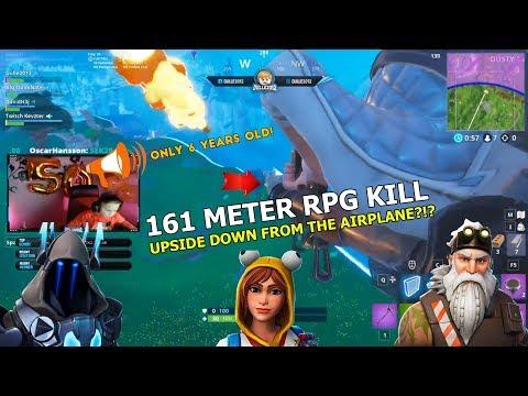 161 METER RPG KILL UPP OCH NER FRÅN FLYGPLANET?!? | Fortnite Stream Highlights (50k Special🎉)