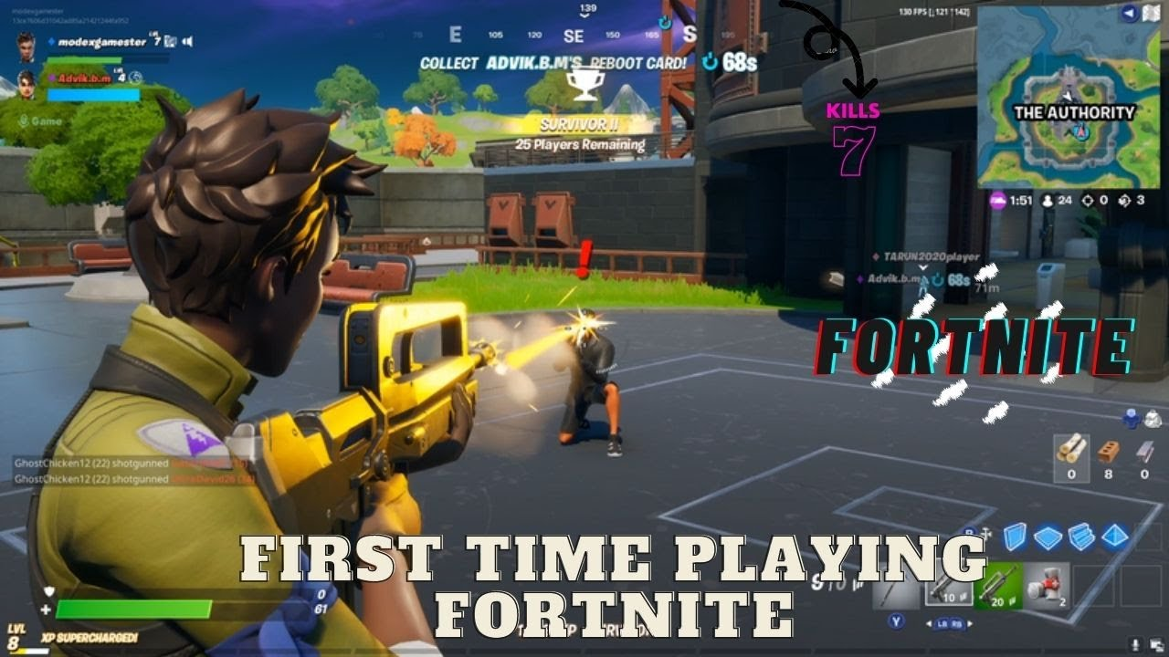 FIRST TIME PLAYING FORTNITE - YouTube