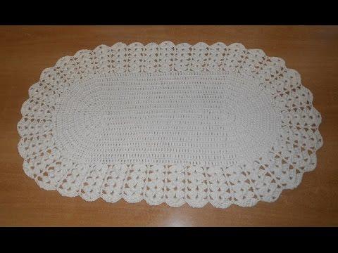 Crochê tapete leques parte 2