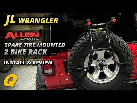 allen sports 2 bike spare tire mounted bike rack for jeep wrangler jl