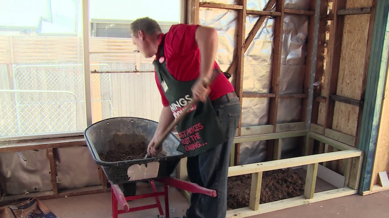 How To Make A Mortar Bed For A Bath - DIY At Bunnings - YouTube