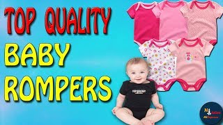 5PCS / LOT Top Quality Baby Rompers - Short Sleeve Cotton O-neck 0-12M -  Roupas  de bebe Baby Cloth