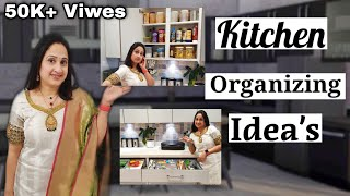 Kitchen Organizing Idea's || Kitchen Designs 2021 || Nandu's World || Kitchen tour