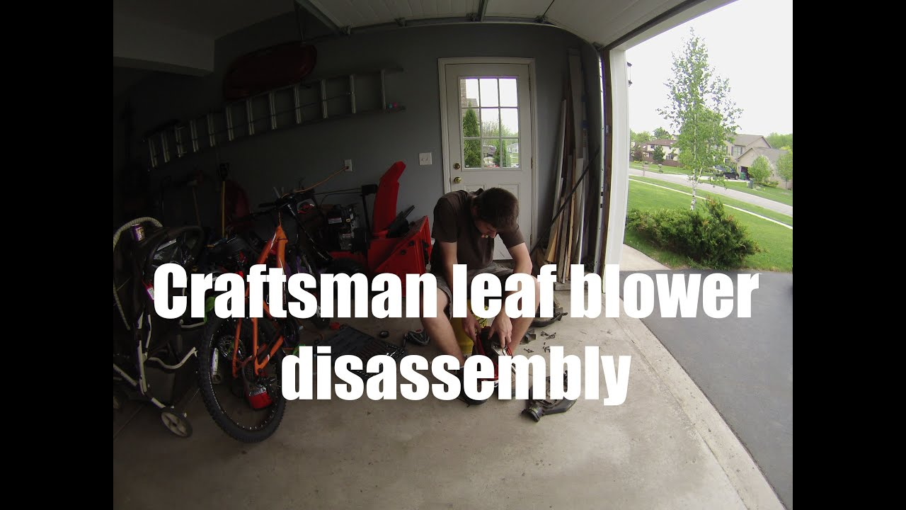 Disassembly of Craftsman 32cc Gas leaf blower