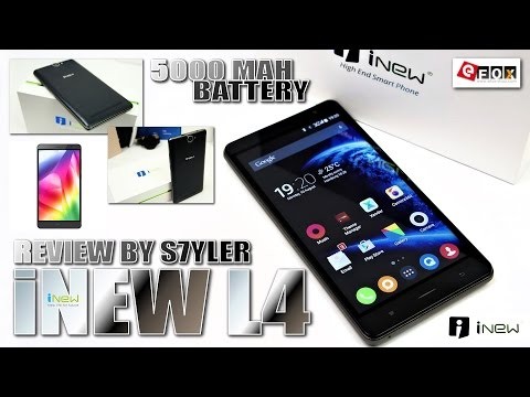 "iNew L4 (Review) Budget 5000mAh/Powerbank, 5.5"" IPS HD, MTK6735P, Android 5.1, Dual SIM, 4G LTE"