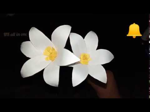 DIY flower making tutorial| how to make a paper flower| Paper flower making