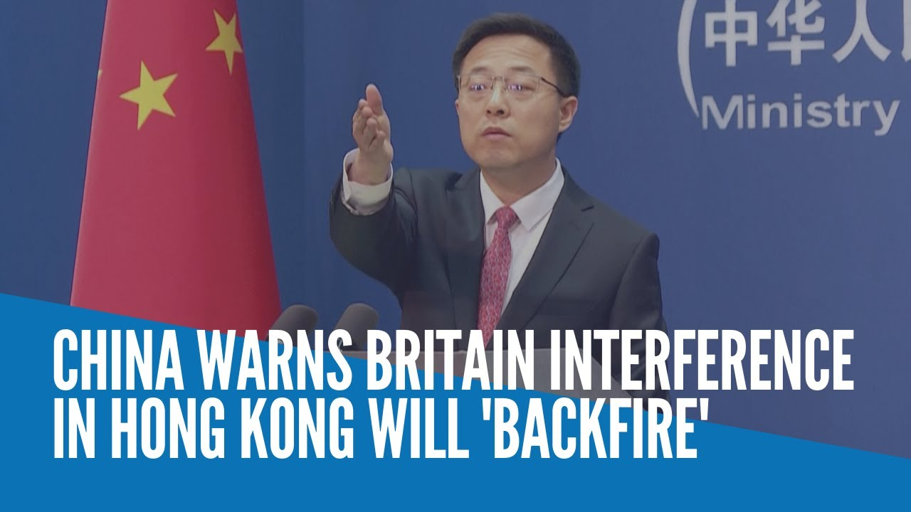 China warns UK over Hong Kong 'interference'