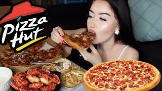 PIZZA HUT PIZZA, PASTA, WINGS MUKBANG