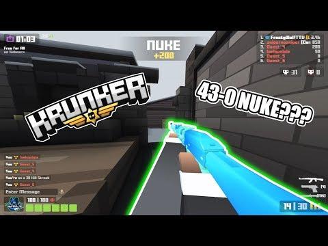 I'm TOLD I have HACKS on Krunker? 43-0 INSANE NUKE gameplay!!!