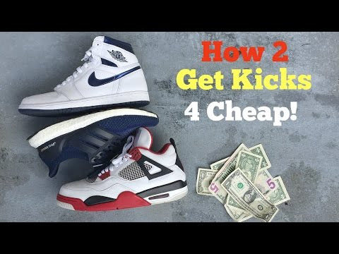 HOW TO GET SNEAKERS FOR CHEAP AND BELOW RETAIL!