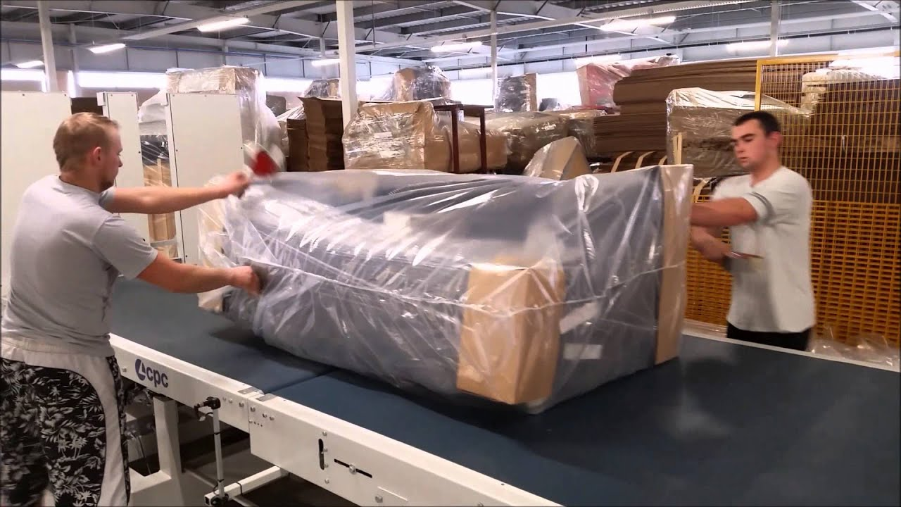 upholstery packaging line youtube. Black Bedroom Furniture Sets. Home Design Ideas