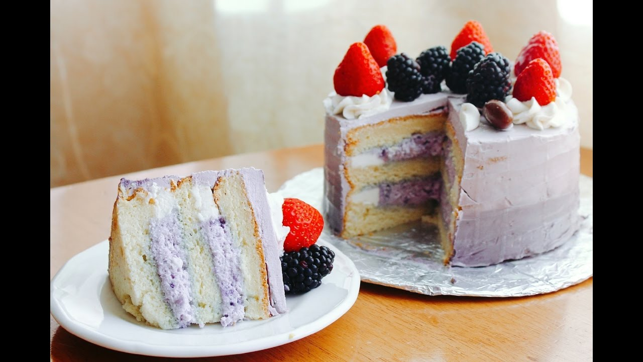 How To Make A Purple Yam Cake Youtube