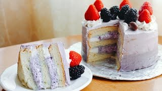 How To Make a PURPLE YAM CAKE