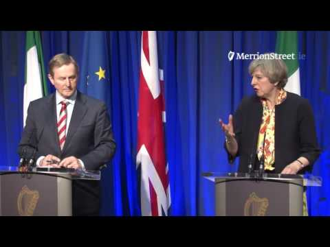 Press Conference:  Taoiseach Enda Kenny and Prime Minister Theresa May