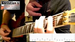 How to Play Ozzy Osbourne CRAZY TRAIN Tabs Akkorde Lesson Tutorial E Gitarre [HD] Deutsch