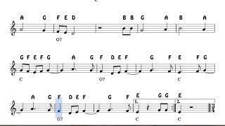 San Jose toma este niño  Christmas Notes  Sheet Music for Flute Violin Oboe Voice    Easy Carol Son