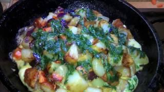 Картошка жареная с овощами