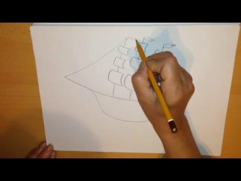 Как нарисовать летающий корабль