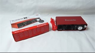 focusrite scarlett 2i2 2nd generation unboxing german hd