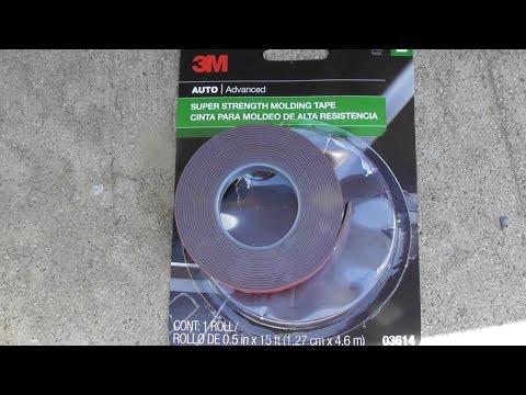 CAR MOLDING Glue or Tape 3M Super Strength MoldingTape 03614 Review