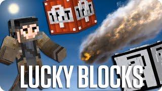 ¡EL LANZADOR DE METEORITOS! LUCKY BLOCKS | Minecraft Con Sara, Luh Y Exo