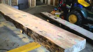 1 Building a Traditional Woodworking Bench -  Part 1 -  Milling the Top Slabs