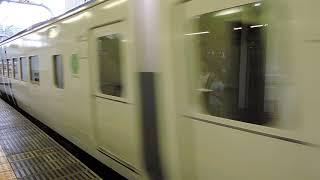 185系7両編成 臨時特急 踊り子132号 我孫子行 東京駅到着