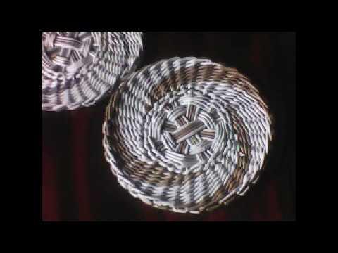 Новогодняя подставка под горячее. Панно. Спиральное послойное плетение.hot-layer Spiral Weaving.