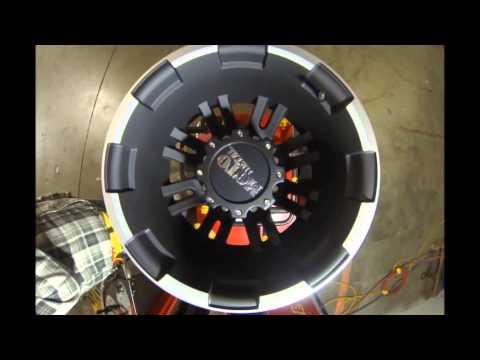 Moto Metal Truck Wheels MO963 Rear Black Machined