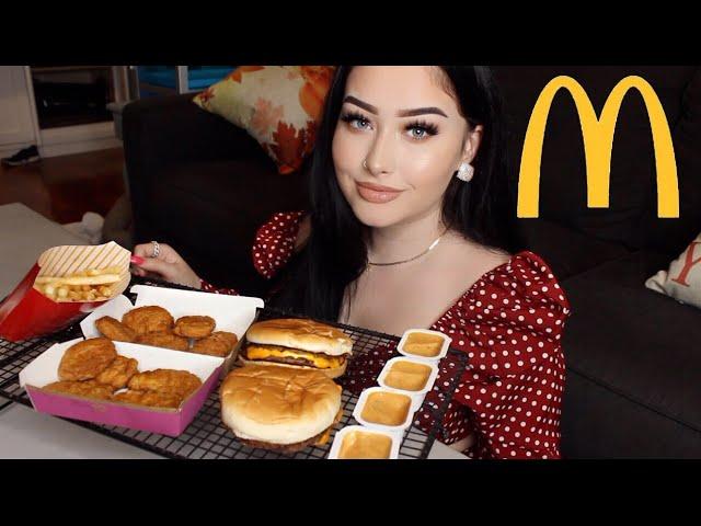 Mcdonalds Mukbang Chicken Nuggets Fries Cheeseburgers