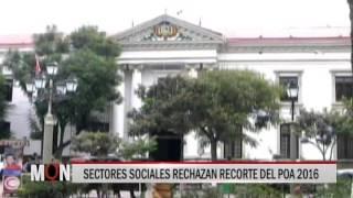 04/09/15 14:38  SECTORES SOCIALES RECHAZAN RECORTE DEL POA 2016