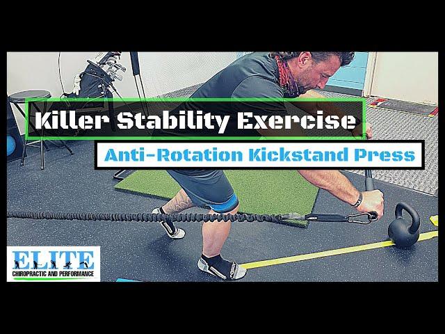 Killer Stability Exercise   Anti-Rotation Kickstand Press