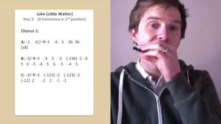 Juke harmonica lesson (Little Walter) - chorus 1