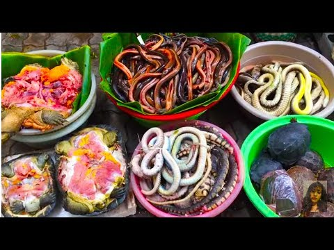 Asian Street Food, Buying Foods In Cambodian Market, Walk Around Market Food In Asia