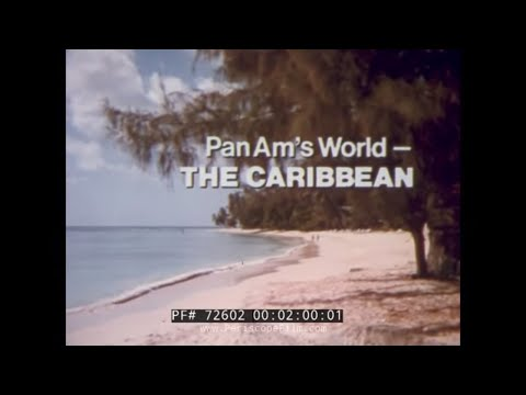 PAN AM AIRLINES JUMBO JET CARIBBEAN TRAVELOGUE FROM 1970s 72602