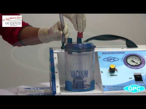 AC/DC Battery Operated Suction Unit | Suction Machine Manufacturer