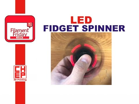 LED Electronic Fid Spinner Designed in Tinkercad and 3D Printed