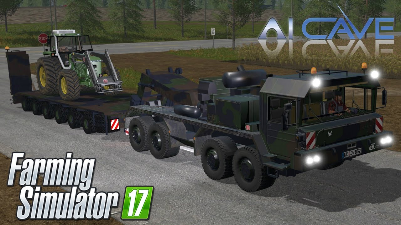 Farming Simulator 2017 Mods - BUNDESWEHR ARMY TRUCK and TRAILER Review