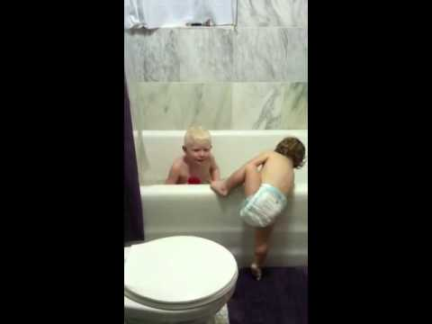 baby falls into tub youtube. Black Bedroom Furniture Sets. Home Design Ideas