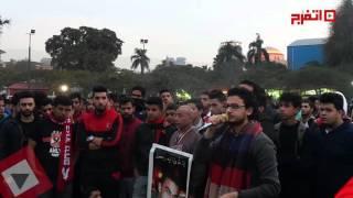 دعاء مصطفي عاطف لشهداء بورسعيد وآلاف الألتراس يرددون وراءه (اتفرج)